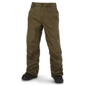 Volcom Carbon Mens Snowboard Pants, Olive, medium