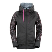 Volcom Lovage Fleece Womens Jacket, Charcoal, medium
