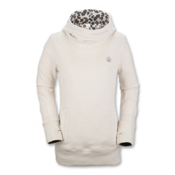 Volcom Tower Pullover Womens Hoodie, White, medium