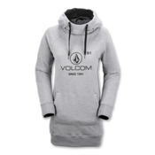 Volcom Costus Pullover Womens Hoodie, Grey, medium