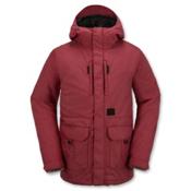 Volcom Range Mens Insulated Snowboard Jacket, Blood Red, medium