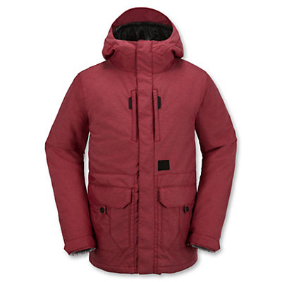 Volcom Range Mens Insulated Snowboard Jacket, Blood Red, viewer