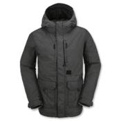 Volcom Range Mens Insulated Snowboard Jacket, Black, medium