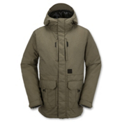 Volcom Range Mens Insulated Snowboard Jacket, Olive, medium