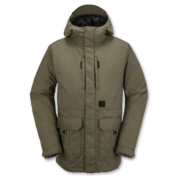Volcom Range Mens Insulated Snowboard Jacket, Olive, 600
