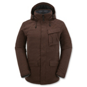 Volcom Mails Mens Insulated Snowboard Jacket, Burgundy, medium