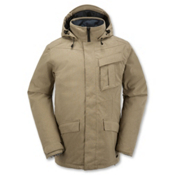 Volcom Mails Mens Insulated Snowboard Jacket, Khaki, medium
