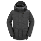Volcom Alternate Mens Insulated Snowboard Jacket, Charcoal, medium