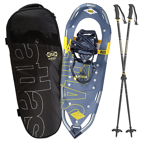 Atlas Rendezvous Kit Snowshoes, Gray-Yellow, 600