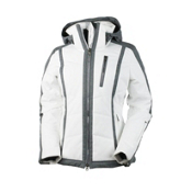 Obermeyer Cortina Womens Insulated Ski Jacket, White, medium