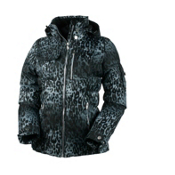 Obermeyer Leighton Luxe Petite Womens Insulated Ski Jacket, Leopard Print, medium