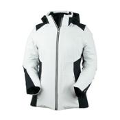 Obermeyer Siren Womens Insulated Ski Jacket, White, medium