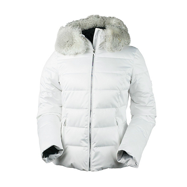 Obermeyer Bombshell (Petite) with Faux Fur Womens Insulated Ski Jacket, White, 600