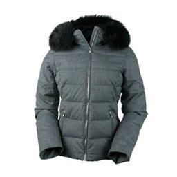 Obermeyer Bombshell (Petite) with Faux Fur Womens Insulated Ski Jacket, Charcoal, 256