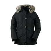 Obermeyer Payge w/Faux Fur Womens Jacket, Black, medium