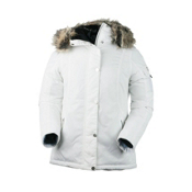 Obermeyer Payge w/Faux Fur Womens Jacket, White, medium