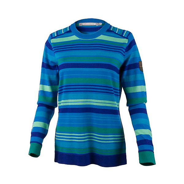 Obermeyer Fiona Stripe Knit Crew Womens Sweater, Sonic Blue, 600
