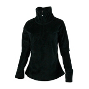 Obermeyer Brandi Fleece Womens Mid Layer, Black, medium