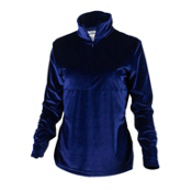 Obermeyer Candace Velvet Zip Womens Mid Layer, Regal Blue, medium