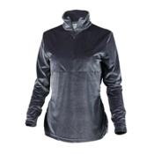 Obermeyer Candace Velvet Zip Womens Mid Layer, Charcoal, medium