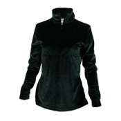 Obermeyer Candace Velvet Zip Womens Mid Layer, Black, medium