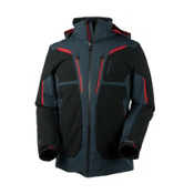 Obermeyer Spartan Mens Insulated Ski Jacket, Ebony, medium