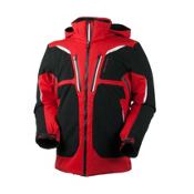 Obermeyer Spartan Mens Insulated Ski Jacket, True Red, medium