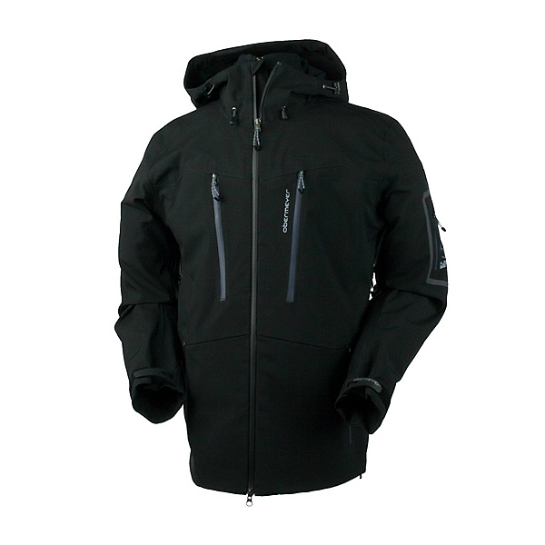 Obermeyer Capitol Mens Shell Ski Jacket, Black, 600