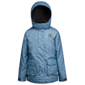 Orage Simone Girls Ski Jacket, Polka Dots Denim Blue, medium