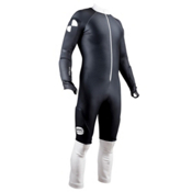 POC Skin GS Race Suit, Uranium Black-Hydrogen White, medium