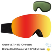 Electric EG3.5 Goggles, Gloss Black-Bronze Red Chrome + Bonus Lens, medium
