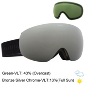 Electric EG3.5 Goggles 2016, Gloss Black-Bronze Silver Chro + Bonus Lens, medium