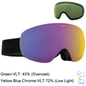 Electric EG3.5 Goggles, Gloss Black-Yellow Blue Chrome + Bonus Lens, medium