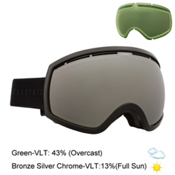 Electric EG2 Goggles, Gloss Black-Bronze Red Chrome + Bonus Lens, medium