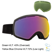 Electric EG2 Goggles 2016, Gloss Black-Yellow Blue Chrome + Bonus Lens, medium