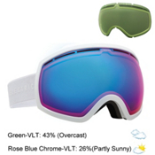 Electric EG2 Goggles, Gloss White-Rose Blue Chrome + Bonus Lens, medium