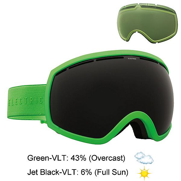Electric EG2 Goggles, Solid Slime-Jet Black + Bonus Lens, 600