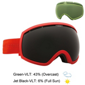 Electric EG2 Goggles, Solid Orange-Jet Black + Bonus Lens, medium