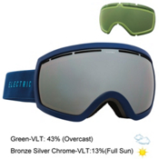 Electric EG2.5 Goggles, Navy Cyan-Bronze Silver Chrome + Bonus Lens, medium