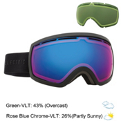 Electric EG2.5 Goggles, Matte Black-Rose Blue Chrome + Bonus Lens, medium