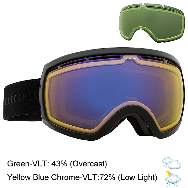 Electric EG2.5 Goggles, Gloss Black-Yellow Blue Chrome + Bonus Lens, 600