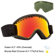 Electric EGV Goggles, Gloss Black-Bronze Red Chrome + Bonus Lens, medium