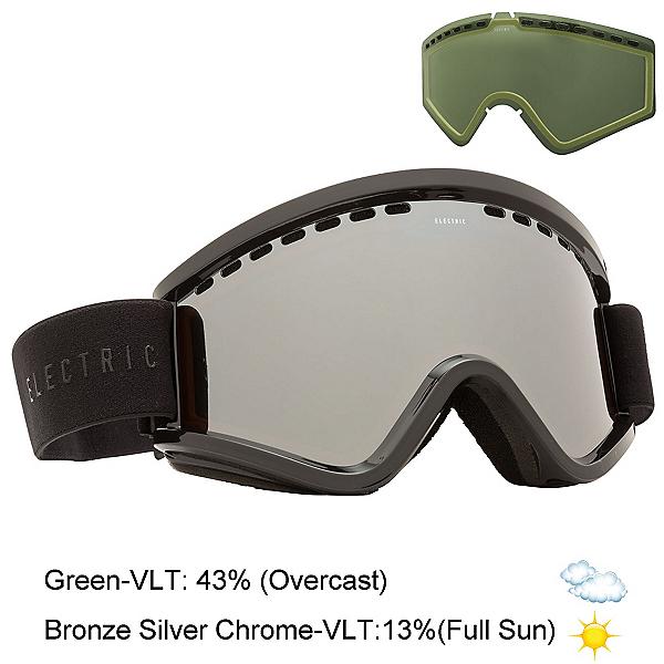 Electric EGV Goggles, Gloss Black-Bronze Silver Chro + Bonus Lens, 600