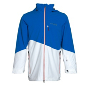 Columbia Shreddin Mens Insulated Ski Jacket, Hyper Blue-White, medium