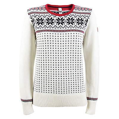 Dale Of Norway Garmisch Womens Sweater, Off White-Navy-Rasberry, viewer