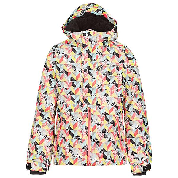 O'Neill Carat Girls Snowboard Jacket, White Aop, 600