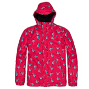 O'Neill Scribble Girls Snowboard Jacket, Pink Aop-Blue, medium