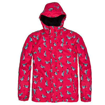O'Neill Scribble Girls Snowboard Jacket, Pink Aop-Blue, viewer