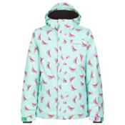O'Neill Scribble Girls Snowboard Jacket, Blue Aop-Purple, medium
