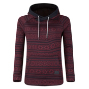 O'Neill Blaze Fleece Womens Hoodie, Red Aop, medium